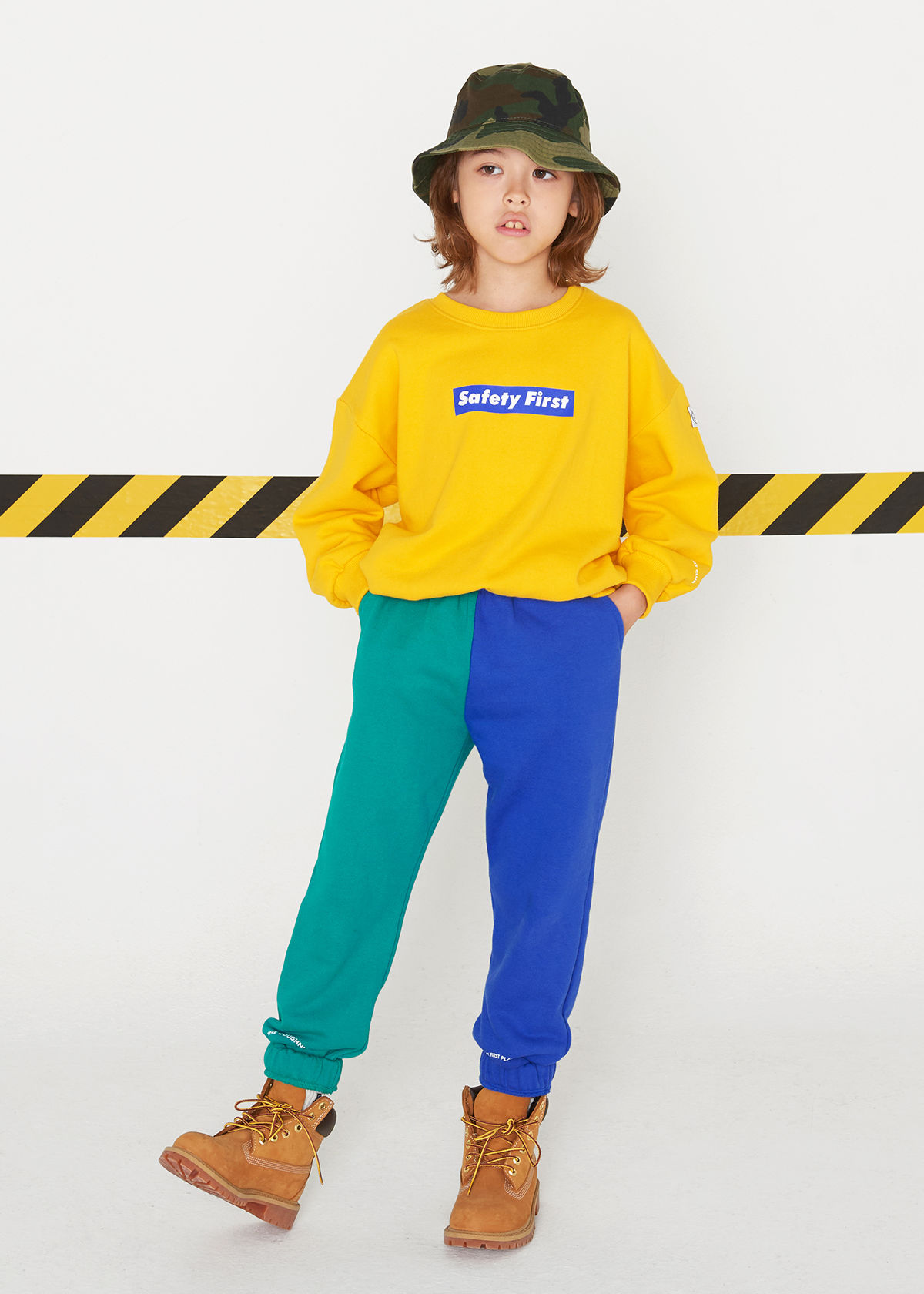 [3차재입고완료]SAFETY FIRST SWEAT PANTS-GREEN&BLUE
