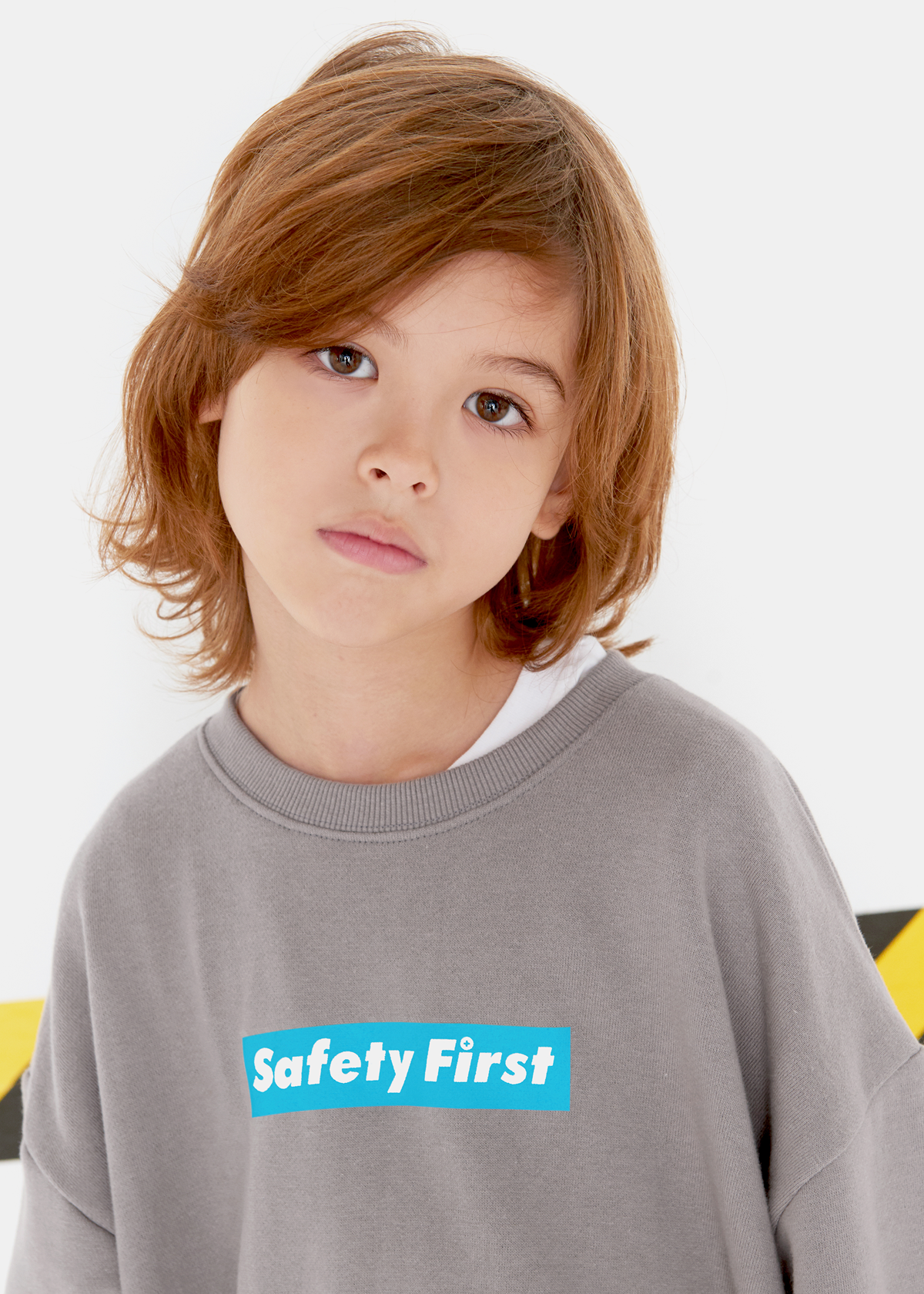 [3차재입고완료]SAFETY FIRST SWEAT SHIRT-GREY