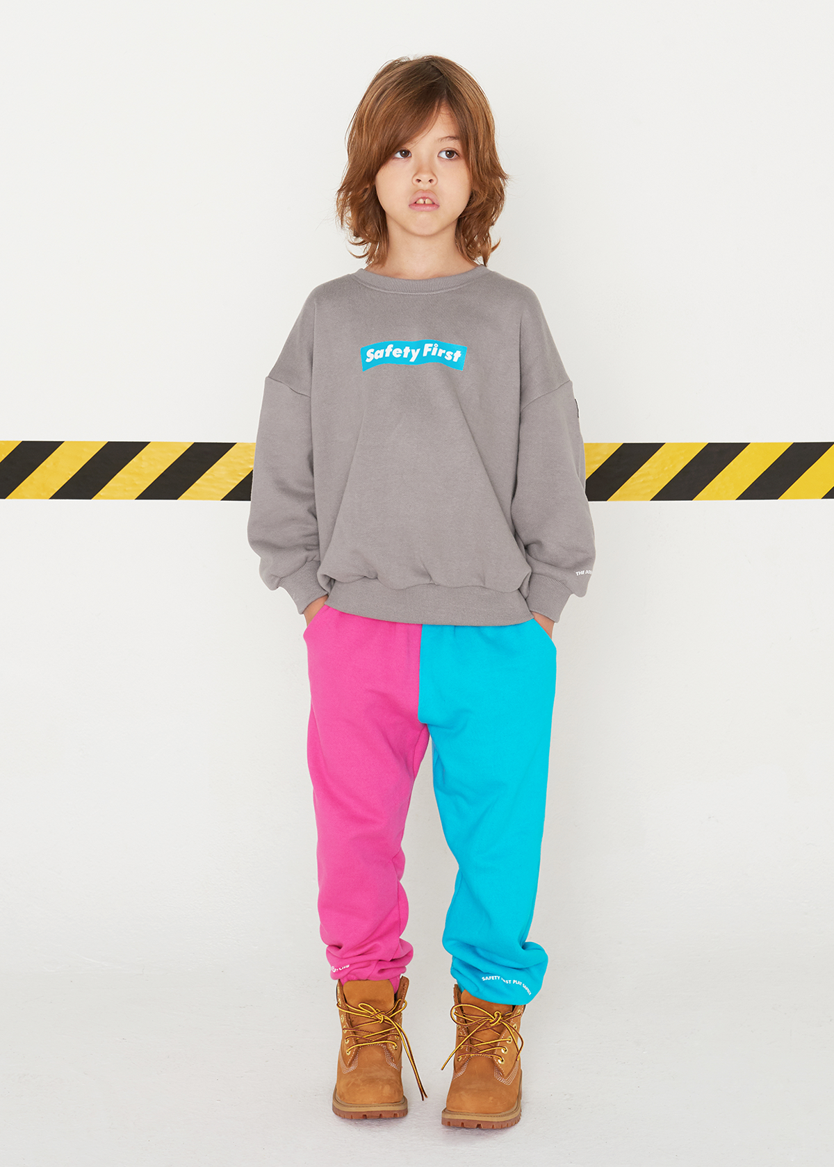 [8차재입고완료]SAFETY FIRST SWEAT PANTS-PINK&MINT